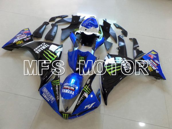 Yamaha YZF-R1 2009-2011 Injection ABS Fairing - Monster - Black Blue - MFS5127