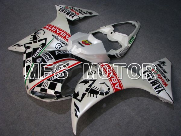 Yamaha YZF-R1 2009-2011 Injection ABS Fairing - ABARTH - Black White - MFS5132