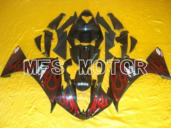 Yamaha YZF-R1 2009-2011 Injection ABS Fairing - Flame - Black Red wine color - MFS5133
