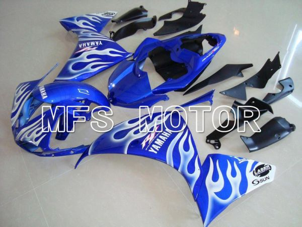Yamaha YZF-R1 2009-2011 Injection ABS Fairing - Flame - Blue White - MFS5136