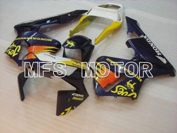 Honda CBR600RR 2003-2004 ABS Injection Fairing - Camel - Yellow Blue - MFS5139