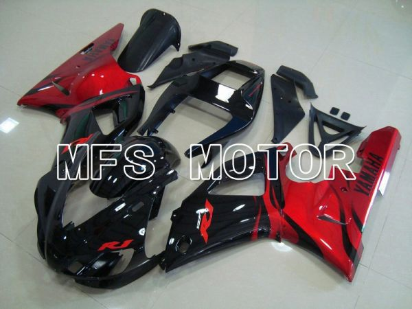 Yamaha YZF-R1 1998-1999 Injection ABS Fairing - Factory Style - Black Red - MFS5149