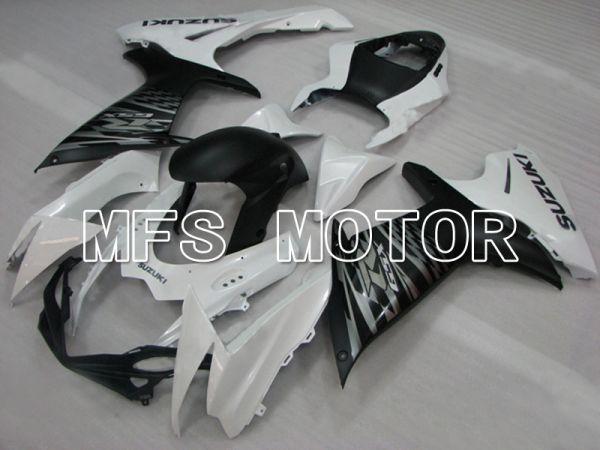 Suzuki GSXR600 GSXR750 2011-2016 Injection ABS Fairing - Factory Style - Black White Matte - MFS5157