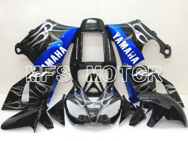 Yamaha YZF-R1 1998-1999 Injection ABS Fairing - Flame - Black Blue - MFS5179