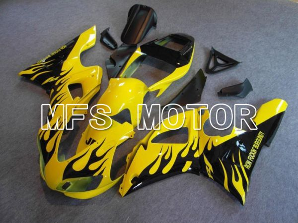 Yamaha YZF-R1 1998-1999 Injection ABS Fairing - Flame - Black Yellow - MFS5180