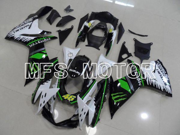Suzuki GSXR600 GSXR750 2011-2016 Injection ABS Fairing - Monster - Black White - MFS5190