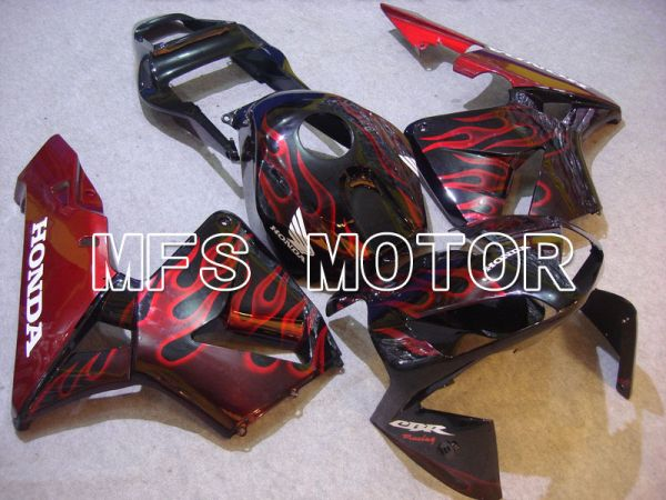 Honda CBR600RR 2003-2004 ABS Injection Fairing - Flame - Red wine color Black - MFS5197