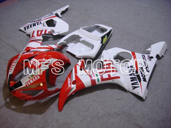 Yamaha YZF-R6 2003-2004 Injection ABS Fairing - FIAT - Red White - MFS5201