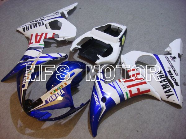 Yamaha YZF-R6 2003-2004 Injection ABS Fairing - FIAT - Blue White - MFS5202