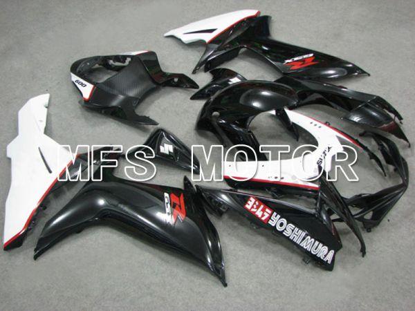 Suzuki GSXR600 GSXR750 2011-2016 Injection ABS Fairing - YOSHIMURA - Black White - MFS5205