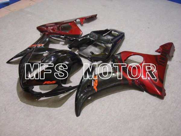 Yamaha YZF-R6 2003-2004 Injection ABS Fairing - Flame - Red wine color Black - MFS5209
