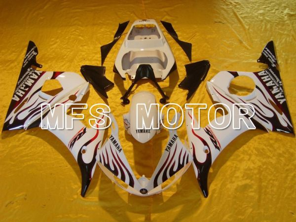Yamaha YZF-R6 2003-2004 Injection ABS Fairing - Flame - Red White - MFS5215