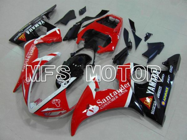 Yamaha YZF-R6 2003-2004 Injection ABS Fairing - Santander - Red Black - MFS5226