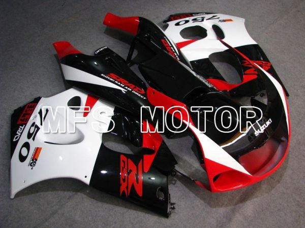 Suzuki GSXR750 1996-1999 ABS Fairing - Factory Style - Black Red White - MFS6898