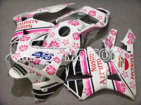 Honda CBR600RR 2003-2004 ABS Injection Fairing - Nastro Azzurro - White Pink - MFS5247