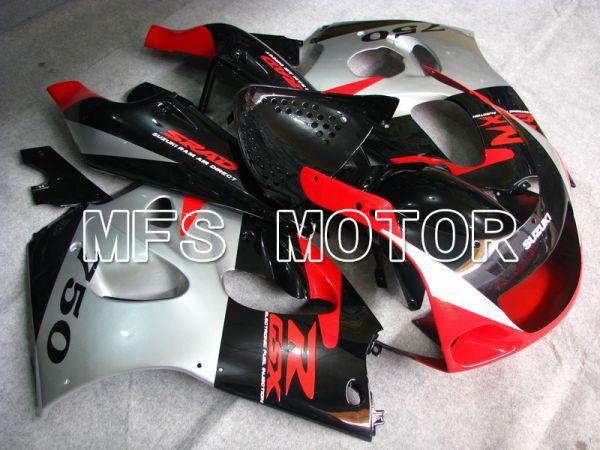 Suzuki GSXR750 1996-1999 ABS Fairing - Factory Style - Black Red Silver - MFS6899