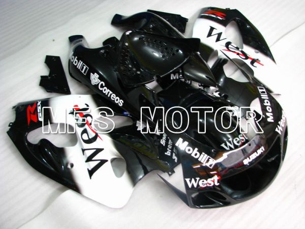 Suzuki GSXR600 1997-2000 ABS Fairing - West - Black White - MFS5262