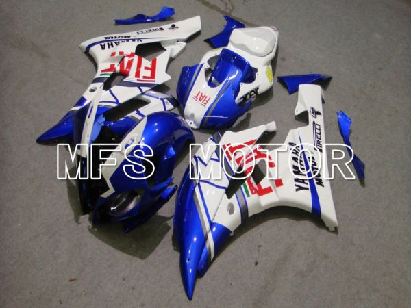 Yamaha YZF-R6 2006-2007 Injection ABS Fairing - FIAT - Blue White - MFS5303