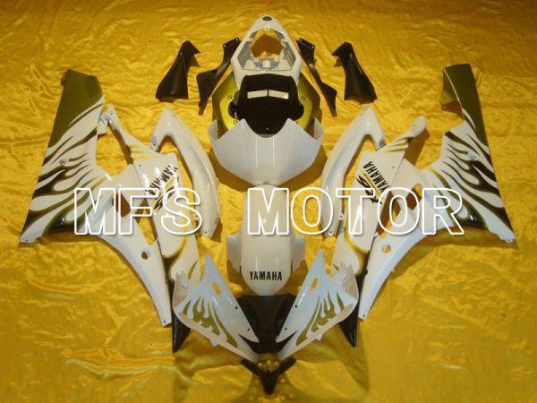 Yamaha YZF-R6 2006-2007 Injection ABS Fairing - Flame - White Black - MFS5307