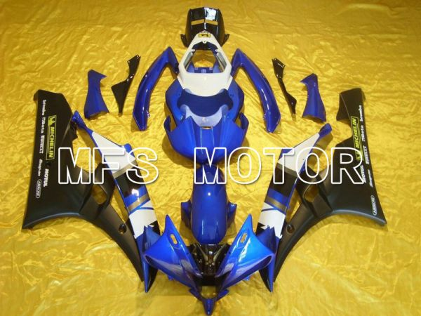 Yamaha YZF-R6 2006-2007 Injection ABS Fairing - Factory Style - Blue Black Matte - MFS5321