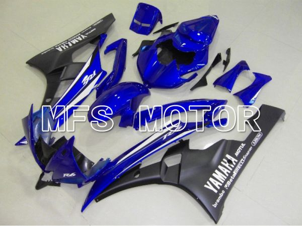 Yamaha YZF-R6 2006-2007 Injection ABS Fairing - Factory Style - Blue Black Matte - MFS5322