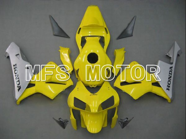 Honda CBR600RR 2003-2004 ABS Injection Fairing - Factory Style - Yellow Silver - MFS5326