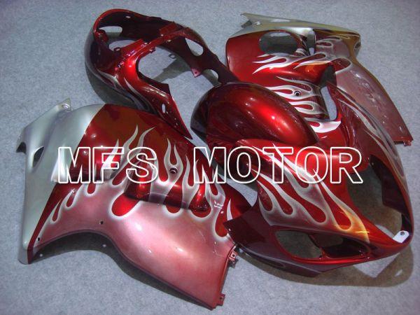 Suzuki GSXR1300 Hayabusa 1999-2007 Injection ABS Fairing - Flame - Silver Red - MFS5338