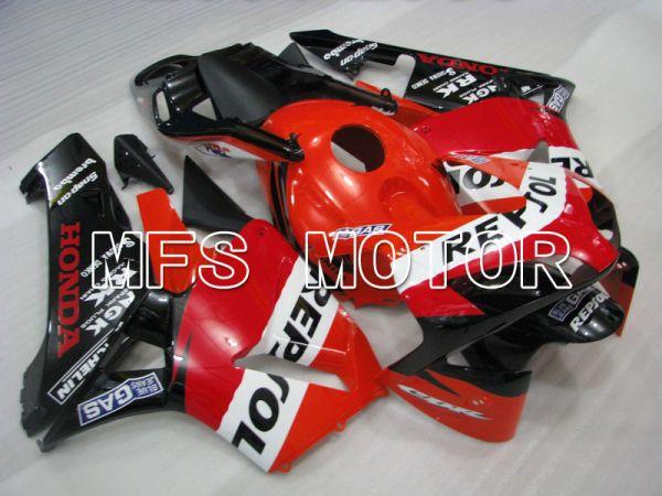 Honda CBR600RR 2003-2004 ABS Injection Fairing - Repsol - Red Orange Black - MFS5343