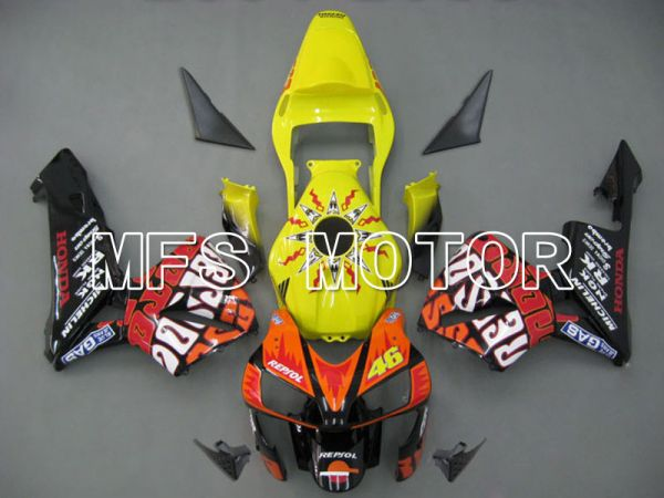 Honda CBR600RR 2003-2004 ABS Injection Fairing - Rossi - Yellow Orange - MFS5345