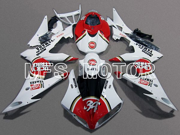 Yamaha YZF-R6 2008-2016 Injection ABS Fairing - Lucky Strike - Red White - MFS5351