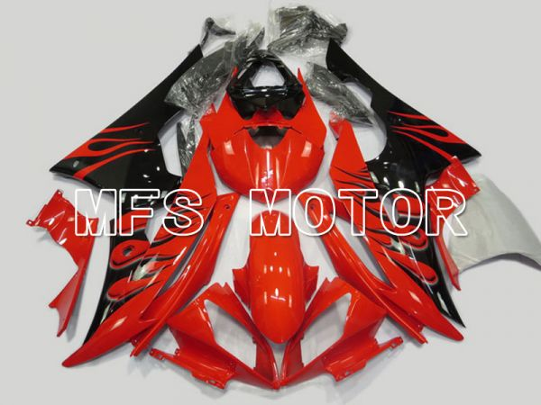 Yamaha YZF-R6 2008-2016 Injection ABS Fairing - Flame - Red Black - MFS5372