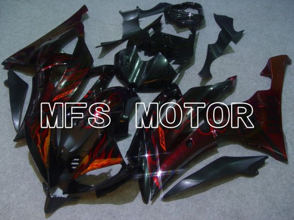 Yamaha YZF-R6 2008-2016 Injection ABS Fairing - Flame - Red Black - MFS5378