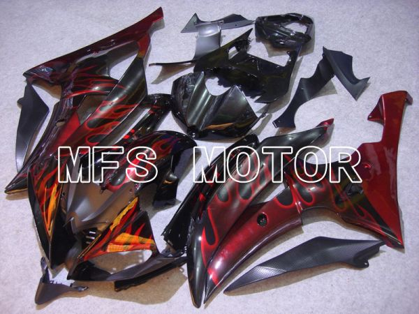 Yamaha YZF-R6 2008-2016 Injection ABS Fairing - Flame - Red Black - MFS5379