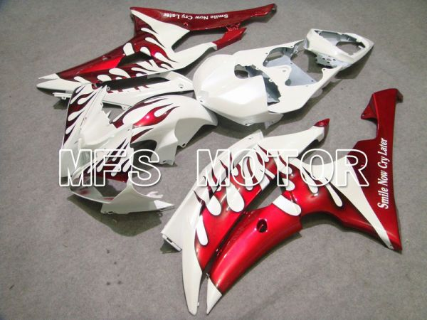 Yamaha YZF-R6 2008-2016 Injection ABS Fairing - Flame - Red White - MFS5385