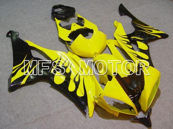 Yamaha YZF-R6 2008-2016 Injection ABS Fairing - Flame - Yellow Black - MFS5386