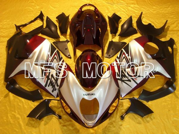 Suzuki GSXR1300 Hayabusa 1999-2007 Injection ABS Fairing - Factory Style - Red wine color Silver - MFS5388