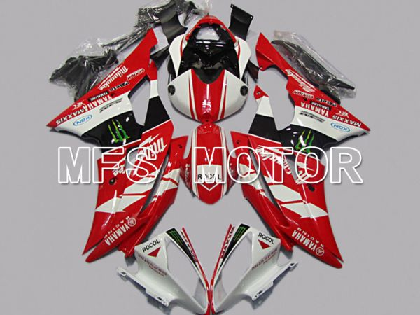 Yamaha YZF-R6 2008-2016 Injection ABS Fairing - Monster - Red White - MFS5389