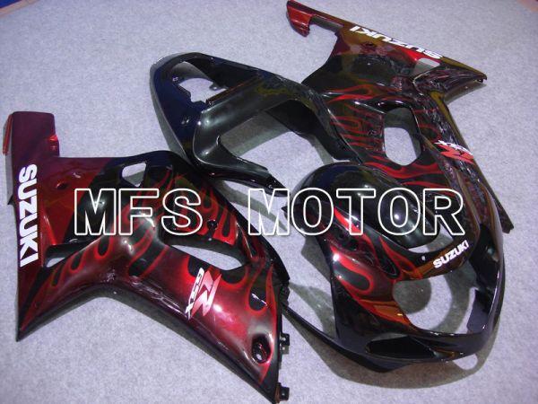 Suzuki GSXR1000 2000-2002 Injection ABS Fairing - Flame - Black Red - MFS5409