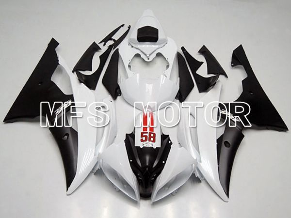 Yamaha YZF-R6 2008-2016 Injection ABS Fairing - Factory Style - White Black - MFS5410
