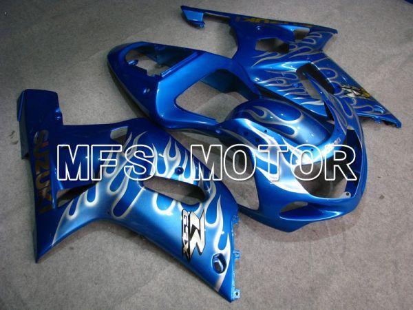 Suzuki GSXR1000 2000-2002 Injection ABS Fairing - Flame - White Blue - MFS5422