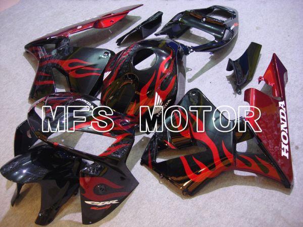 Honda CBR600RR 2005-2006 Injection ABS Fairing - Flame - Red Black - MFS5423