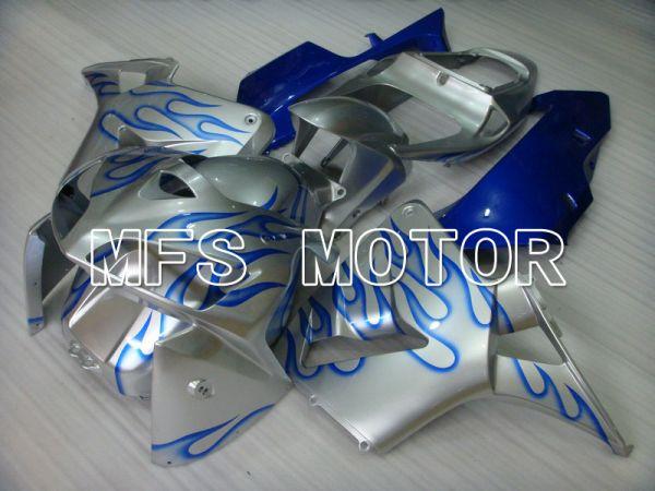 Honda CBR600RR 2005-2006 Injection ABS Fairing - Flame - Blue Silver - MFS5429