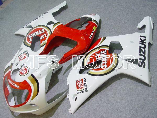 Suzuki GSXR1000 2000-2002 Injection ABS Fairing - Lucky Strike - Red White - MFS5431
