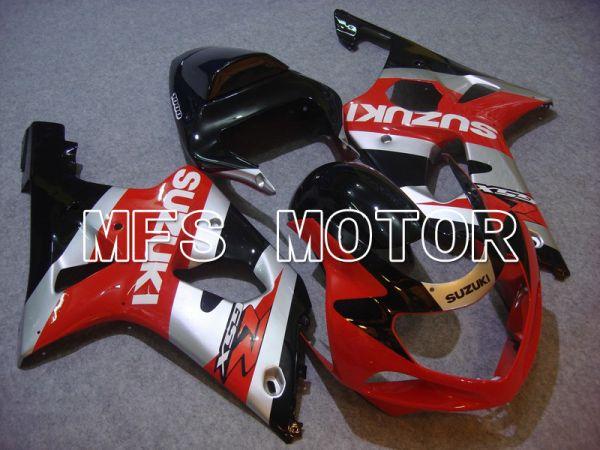 Suzuki GSXR1000 2000-2002 Injection ABS Fairing - Factory Style - Red Silver - MFS5470