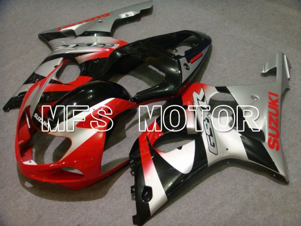 Suzuki GSXR1000 2000-2002 Injection ABS Fairing - Factory Style - Red Silver Black - MFS5472