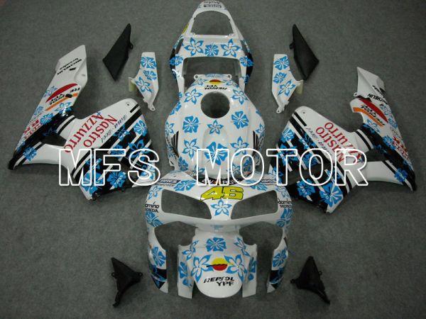 Honda CBR600RR 2003-2004 ABS Injection Fairing - Nastro Azzurro - White Blue - MFS5535