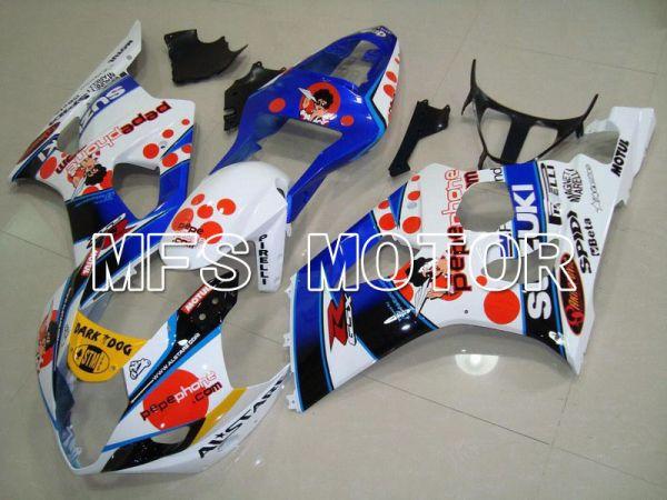 Suzuki GSXR1000 2003-2004 Injection ABS Fairing - Dark Dog - Blue White - MFS5552