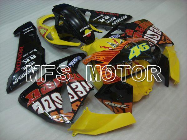 Honda CBR600RR 2005-2006 Injection ABS Fairing - Rossi - Black Yellow - MFS5553