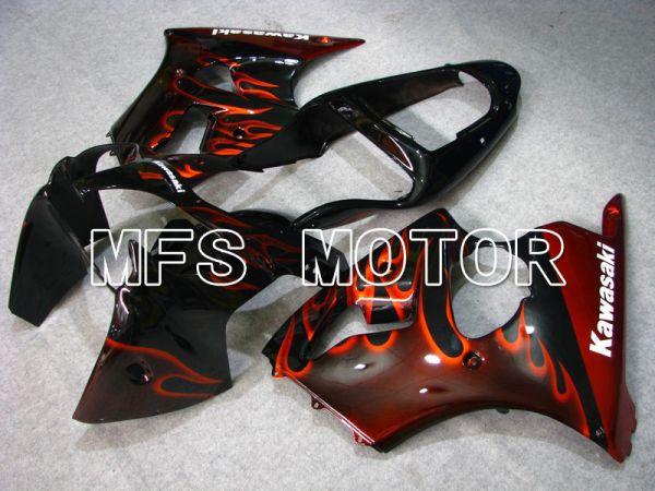 Kawasaki NINJA ZX6R 2000-2002 Injection ABS Fairing - Flame - Black Red - MFS5558