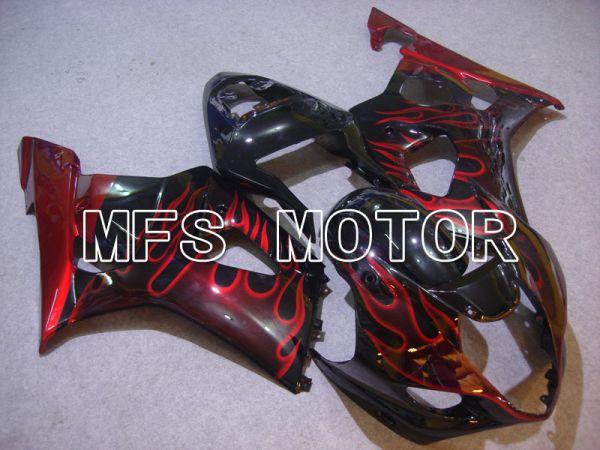 Suzuki GSXR1000 2003-2004 Injection ABS Fairing - Black Red - Flame - MFS5562